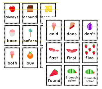 Hungry Caterpillar Sight Word Games Bundle-- 220 Words!
