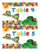 Hungry Caterpillar Table Numbers