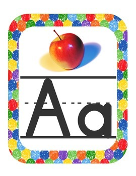 Caterpillar Themed ABC Printables (w/ real pictures)