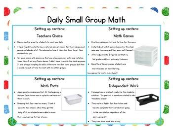 Caterpillar Themed Classroom Small Group Math Center/ Workshop Setup