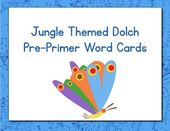 Hungry Caterpillar Themed Decor Dolch Word Cards (Pre-Primer-3rd Grade)