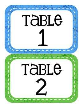 Caterpillar Themed Table Numbers (only)