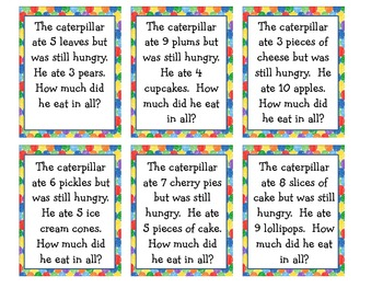 Hungry Caterpillar Word Problem Game