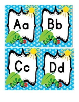 Hungry Caterpillar Word Wall Cards