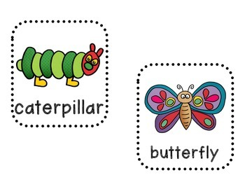 Hungry Caterpillar Write the Room (8 words)