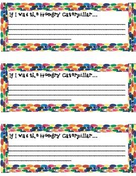 Hungry Caterpillar Writing