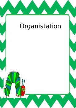 Hungry Caterpillar binder pages