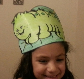 Hungry Caterpillar and Butterfly Character Hats (set of 2)