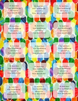 Hungry Caterpillar/Eric Carle Print Teacher Info Magnet **