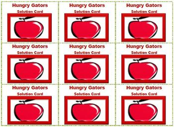 Hungry Gators Need Some Apples: A Multiplication Matching Game