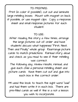 Hungry Giant's Soup Retelling Activity