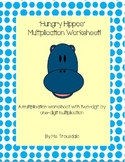 Hungry Hippo Multiplication Worksheet