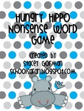 Hungry Hippo Nonsense Word Game