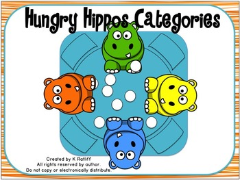 Hungry Hippos Categories Game