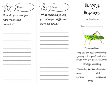 Hungry Hoppers Trifold - Imagine It 2nd Grade Unit 2 Week 3
