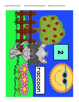 Hungry, Hungry Animals: A Hands-On  Syllabication Activity With Cute Graphics