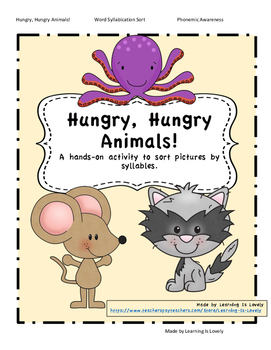 Hungry, Hungry Animals: A Hands-On  Syllabication Activity