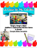 Hungry Hungry Hippo Math Addition & Subtraction Game IN SPANISH