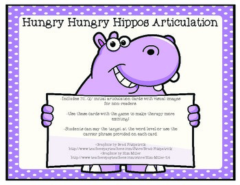 Hungry Hungry Hippos Articulation-/K/ Initial