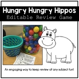 Hungry Hungry Hippos Review Game - Editable