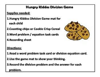 Hungry Kiddos Division Game