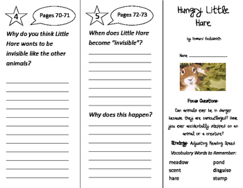 Hungry Little Hare Trifold - Imagine It 2nd Grade Unit 4 Week 2