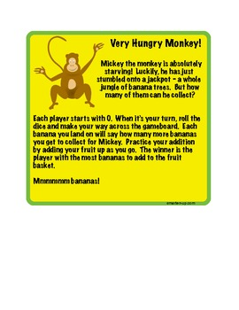 Hungry Monkey Printable Addition Game