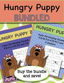Articulation BUNDLE Hungry Puppy Early and Later Developing Sounds