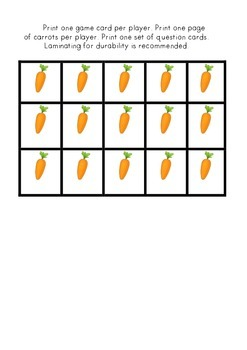 Hungry Rabbit Addition Game - Includes all sums from 0+1 to 10+0