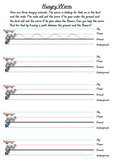 Hungry Worm Sizing Letters Worksheet