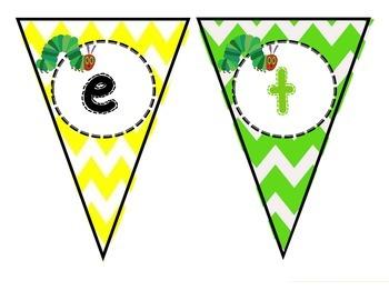 Hungry caterpillar welcome to kindergarten banner