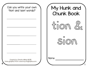 Hunk and Chunk Books Pack 10- TION, SION, AUGH, OUGH