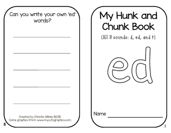 Hunk and Chunk Books Pack 9- ED, ING, ALL, ION