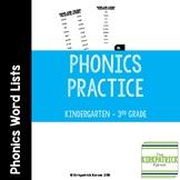 Hunk and Chunk Word Lists - Phonics Dance