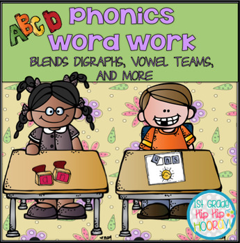 Word Work Practice...Blends, Digraphs, Vowel Teams and More...Print and Go!