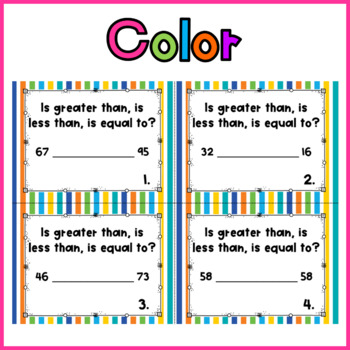 Hunt Around the Room: Comparing Numbers to 99 with Words