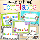 Hunt & Find Game Templates - EDITABLE