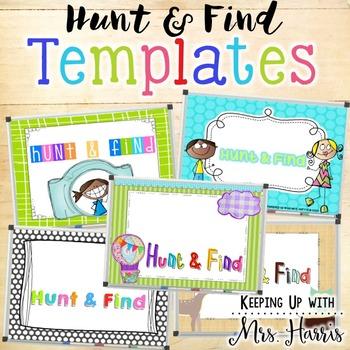Hunt & Find Game Templates - EDITABLE