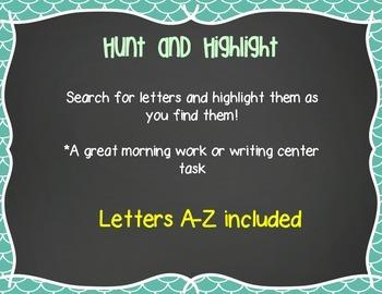 Hunt and Highlight: Alphabet Version