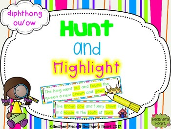 Hunt and Highlight: Diphthong OU and OW
