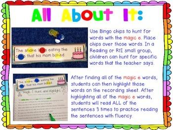 Hunt and Highlight: Magic E
