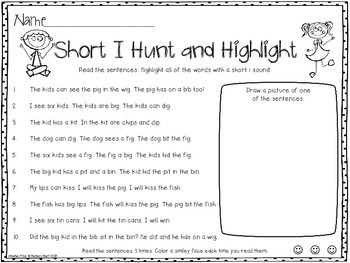 Hunt and Highlight: Short I