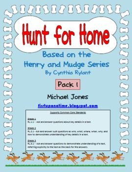 Hunt for Home (Based on the Henry and Mudge book series) Question Pack 1