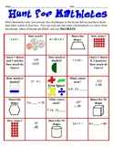 Hunt for Mathletes - A Whole Group Math Activity to Get to Know Classmates