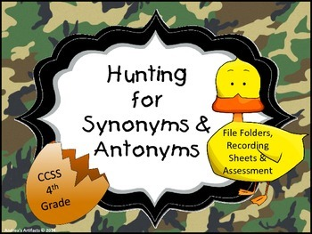 Hunt for Synonyms & Antonyms File Folders CCSS Aligned