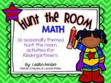 Hunt the Room - Kindergarten MATH activities