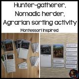 Hunter Gatherer, Nomadic Herder, Agrarian Sorting