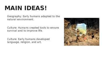 Hunter Gatherer Societies PowerPoint (Guided Notes)