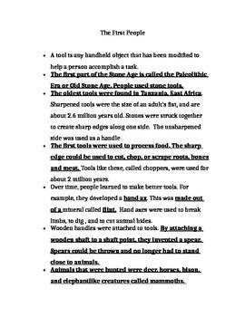 Hunter Gatherer notes for annotation