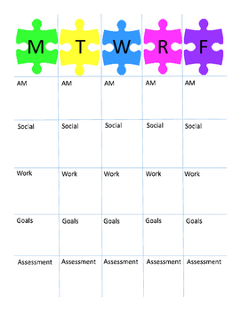 Hunter's Weekly Lesson Plan Templates
